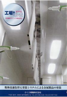 粉体高速色替え塗装システムによる金属製品の塗装